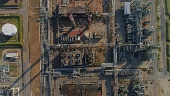 Thumbnail for Flying Over Huge Oil Refinery