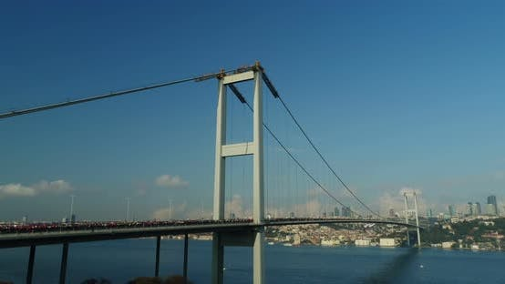Thumbnail for Istanbul Bosphorus Bridge Eurasia Marathon Aerial View