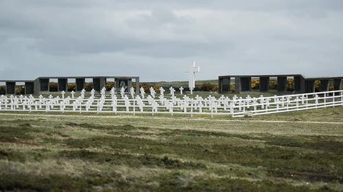 Der argentinische Militärfriedhof, Falklandinseln (Islas Malvinas).