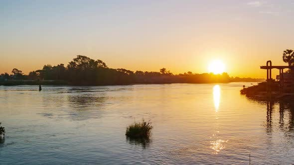 Time Lapse: sunrise at the 4000 islands Mekong River in Laos