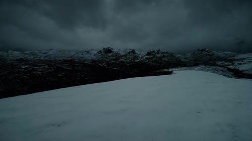 Mountain Snow at Night