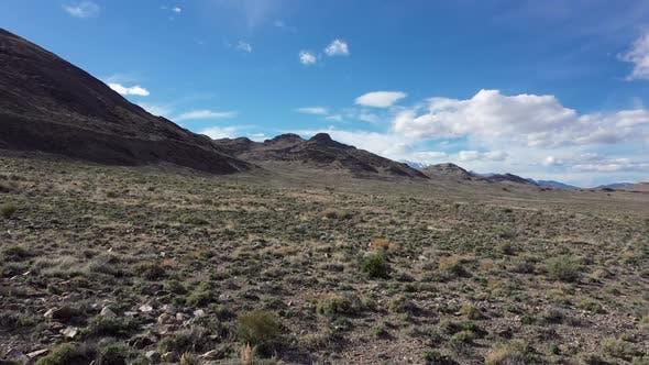 Thumbnail for Flying over vast desert landscape in Utah