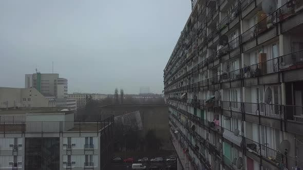 Thumbnail for Besides Big Apartment Complex in Berlin, Cloudy, Foggy