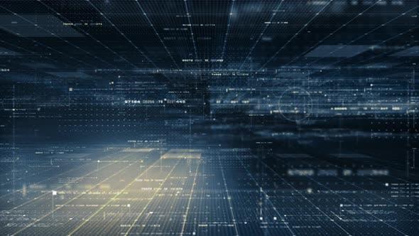 Futuristic Matrix Cyber Environment 03
