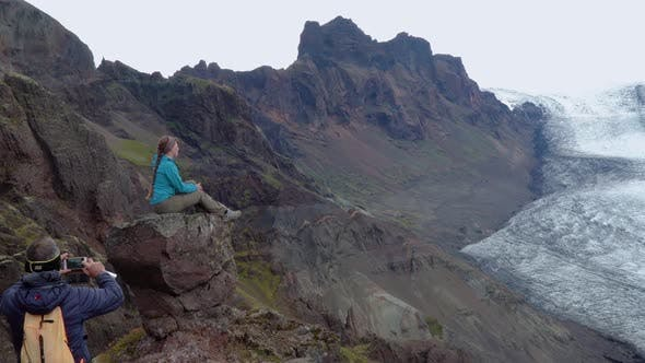 Cover Image for Tourists in the Mountains of Iceland