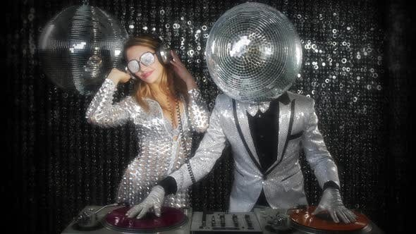 Thumbnail for disco man woman sexy discoball glitterball party music dj