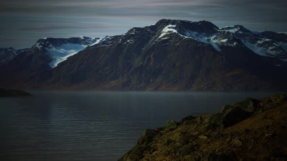 Mountains and Fjords at Norway Landscape