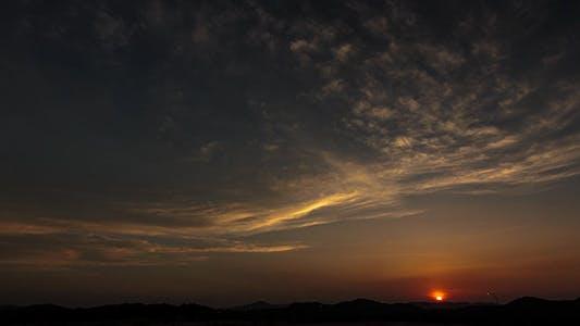 Hillside Sunset Time Lapse