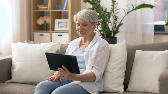 Thumbnail for Senior Woman Having Video Chat on Tablet Pc 19