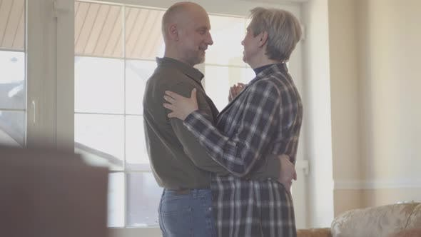 Thumbnail for Mature Couple in Love Dancing Slow Dance Indoors