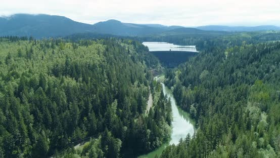 Thumbnail for Nisqually River Alder Dam In Washington State Cascade Mountains