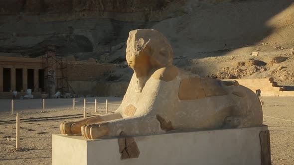 Ancient Egyptian Sphinx at the Temple of Karnak Tourism Destination