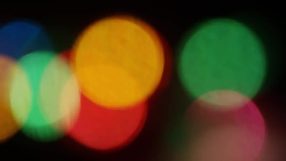 Thumbnail for Cinematic moving bokeh stock footage clip