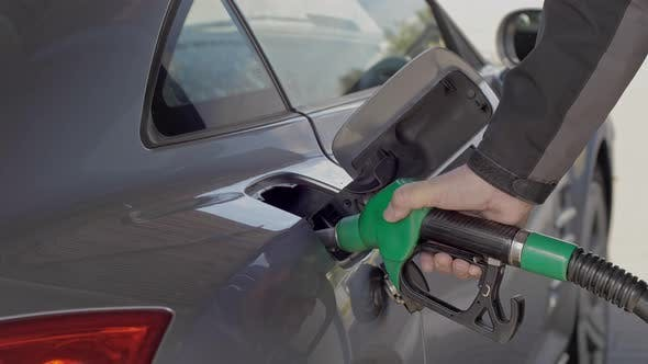 Thumbnail for Filling Car With Gas fuel at station pump