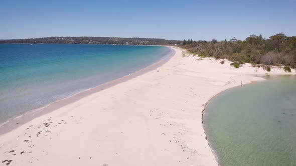 Thumbnail for Jervis Bay in Australia. Beautiful Blue Bay with White Sand and Picturesque Vegetation