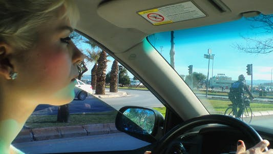 Thumbnail for Blonde Woman is Driving