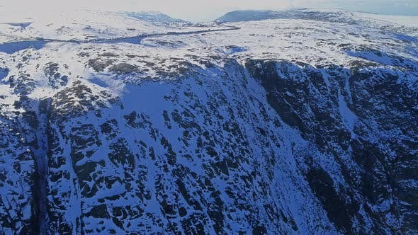 Thumbnail for Flying Over winter Landscape in the Mountains
