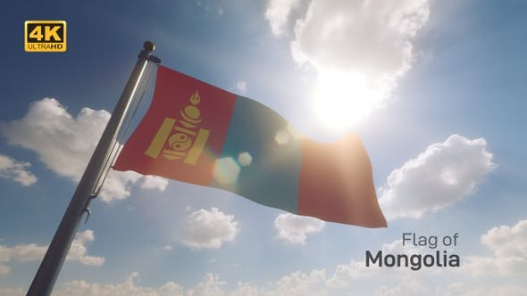 Thumbnail for Mongolia Flag on a Flagpole V2 - 4K