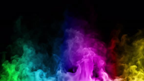 Thumbnail for Multicolored Steam Spins and Rises From Below