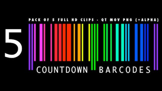 Countdown Barcodes - Rainbow Pack of 5