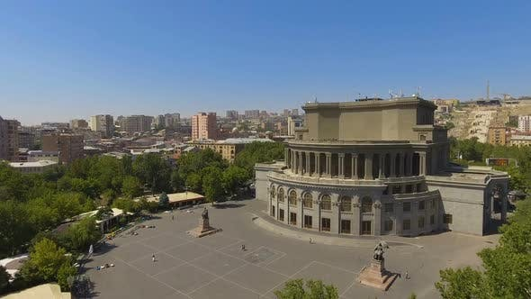 Thumbnail for Beautiful Opera House in Yerevan Town Architecture in Armenia, Aerial View
