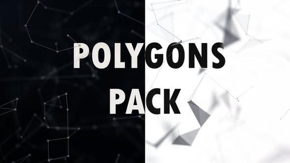 Thumbnail for Clean Polygons 4K Pack