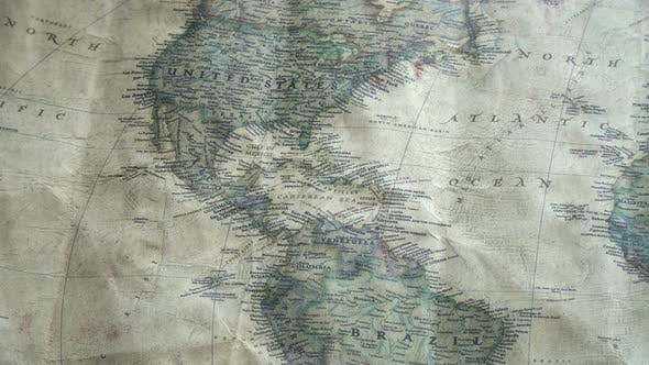 Cover Image for Old Vintage Map Of The World 5