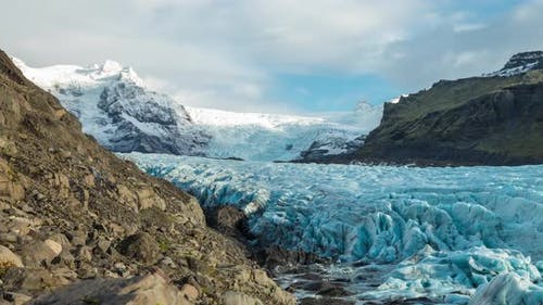 Time lapse of the  Svinafellsjokull Glacier in Iceland