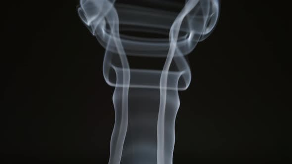 Changing smoke curves on a black background