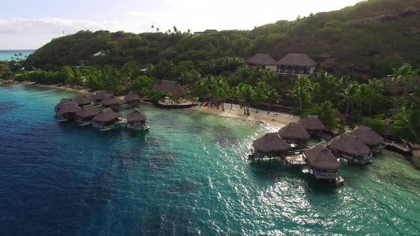 Thumbnail for Luxury Overwater Bungalows, Palm Trees, Hotels, and Landscape