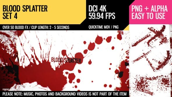 Thumbnail for Blood Splatter (4K Set 4)