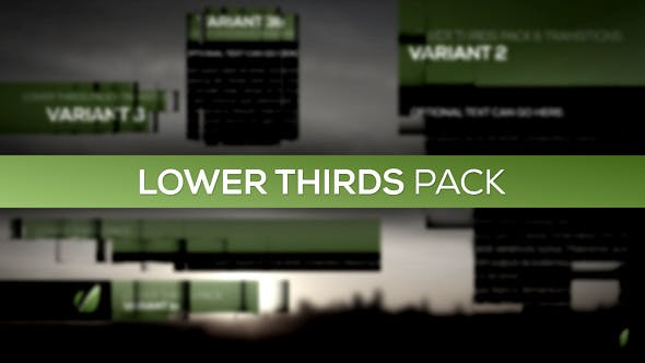 Thumbnail for Lower Thirds Pack