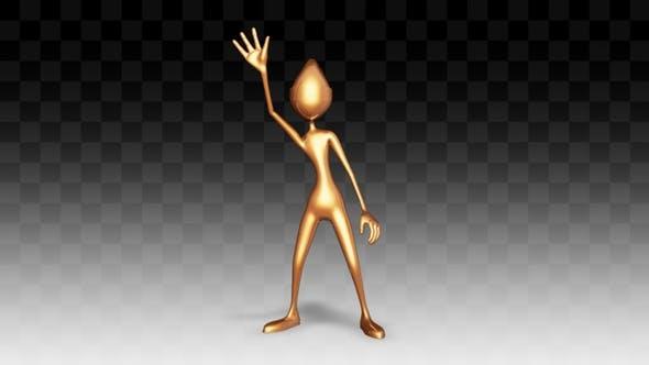 Man Gold Dance Hip Hop
