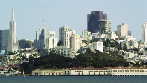Thumbnail for Pan of San Franciscos cityscape during daylight