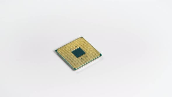 Thumbnail for CPU. Modern High-performance Processor on a White Background. Such an Element Can Do Many
