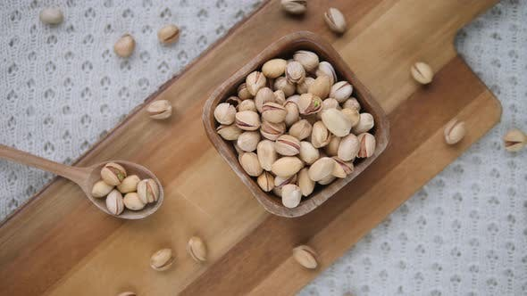 Thumbnail for Superfood, Healthy Nutrition Concept. Organic Unsalted Raw Pistachio Nuts.