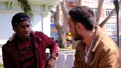 Black and White Man Talking