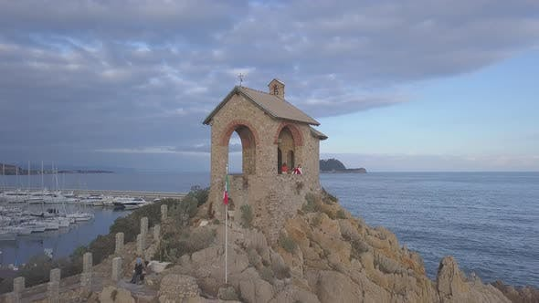 Chapel by Sea in Alassio