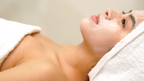 Thumbnail for Girl Gets Facial Mask at the Beauty Salon