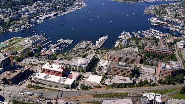 Thumbnail for South Lake Union Seattle Summer Aerial