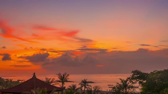 Thumbnail for Sunset over the Beach of Bali