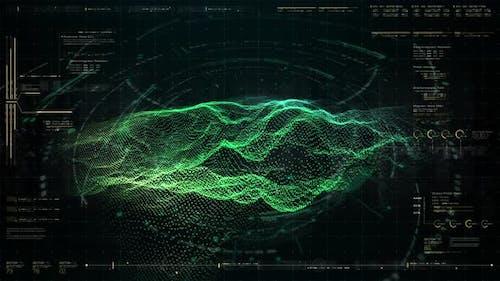 Futuristic Holographic Terrain Head Up Display 02