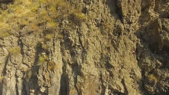 Thumbnail for Huge Basalt Rock With Little Village on Top, Armenian Landscape, Recreation