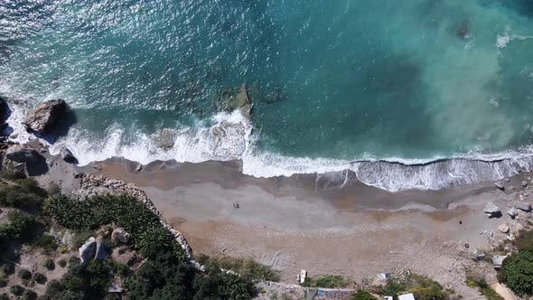Shore of the Mediterranean Sea : Turkey Mountain Coastline