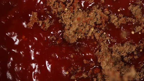 BBQ sauce being cooked from scratch in ultra slow motion 1500fps - BBQ PHANTOM 064