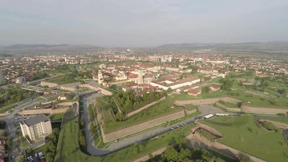 Thumbnail for Aerial view of the Alba Iulia citadel and city
