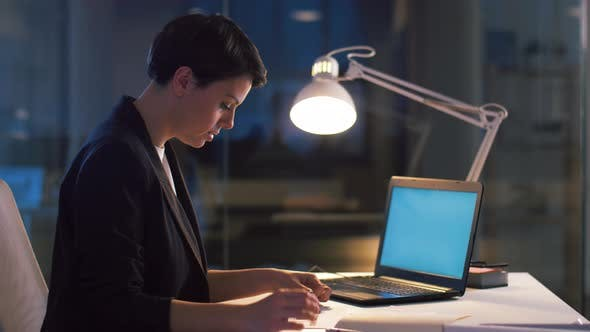 Thumbnail for Ui Designer Working on Interface at Night Office 15