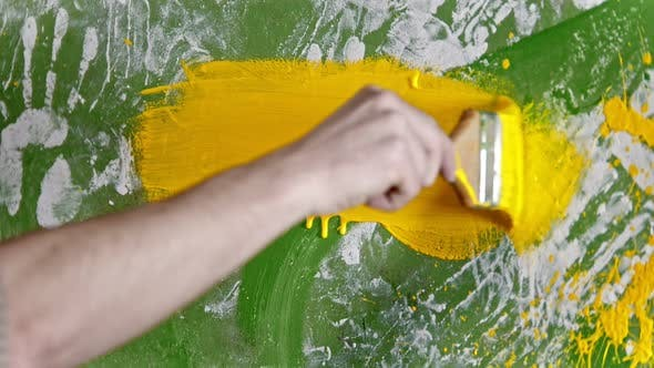 Thumbnail for Painting Wall with Yellow Color Paint