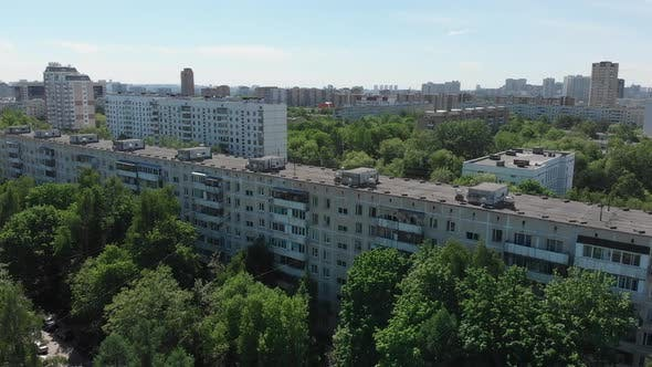 Thumbnail for Top View of the District Severnoye Tushino in Moscow, Russia.