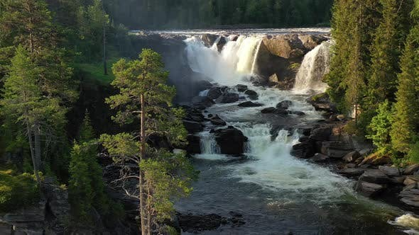 Thumbnail for Ristafallet Waterfall in the Western Part of Jamtland